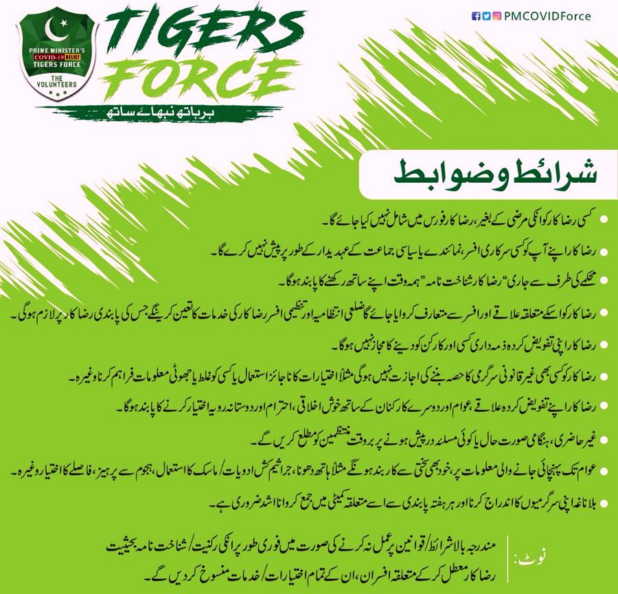 Tigers force Term & Conditions