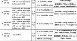 University of Education UE Lahore Jobs 2021 Advertisement