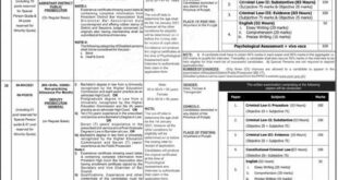 (PPSC) Lahore Jobs 2021 for Assistant District Public Prosecutors, Assistant District Attorneys & Others