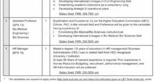 UET Swat University HR Manager and Teaching Faculty Jobs 2021